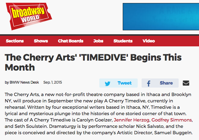 Cherry Arts Broadway World Timedive